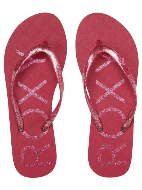 ROXY WOMENS FLIP FLOPS.NEW VIVA SPARKLE PINK GLITTER BEACH THONGS SANDALS S20 73